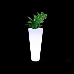 verlicht bloempot